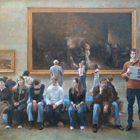 13 Shang Ding In Front of Comrade Courbet at Orsay Museum 290x290 - Shang Ding Oil Painting Exhibition Opened at Chinese Academy of Oil Painting