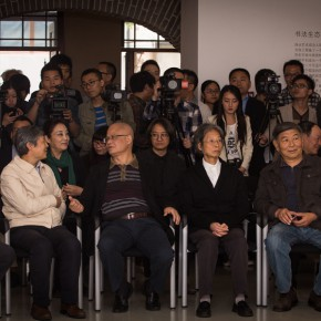 """14""""View of the opening ceremony of """"Round and Square Characters Lu Fusheng Chinese Calligraphy Art Exhibition"""" 290x290 - """"Lu Fusheng's Chinese Calligraphy Art Exhibition"""" Debuted and the """"Fusheng Font"""" Announced in Beijing"""