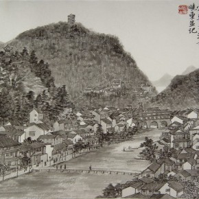 15 Cui Xiaodong Sketch of the Ancient Fenghuang Town 290x290 - Cui Xiaodong
