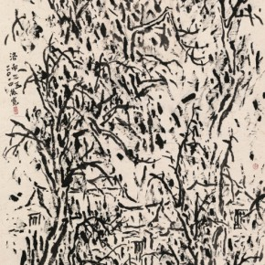 15 Cui Zhenkuan Luonan No.5 179 x 96 cm 2014 290x290 - Mountains in Meditating – Cui Zhenkuan Chinese Painting Exhibition Opening at the National Art Museum of China
