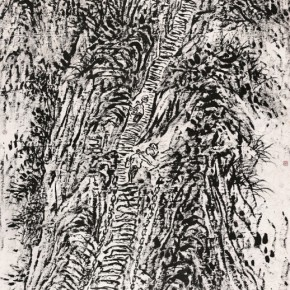 19 Cui Zhenkuan Stone Stairs of Mount Hua 257 x 144 cm 2010 290x290 - Mountains in Meditating – Cui Zhenkuan Chinese Painting Exhibition Opening at the National Art Museum of China