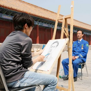 "19 View of the event of ""Serving the People Creating Portraits of Model Workers"" 290x290 - From ""Small Class"" to ""Big Class"": 200 Teachers and Students from CAFA ""Creating Portraits of Model Workers"""