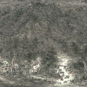 20 Cui Zhenkuan Moonlight of the Hometown 95.5 x 179.5 cm 2013 290x290 - Mountains in Meditating – Cui Zhenkuan Chinese Painting Exhibition Opening at the National Art Museum of China