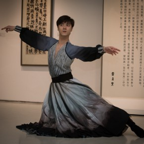 "21 The opening ceremony of ""Round and Square Characters Lu Fusheng Chinese Calligraphy Art Exhibition"" – the performance of modern dance"