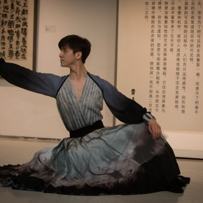 "22 The opening ceremony of ""Round and Square Characters Lu Fusheng Chinese Calligraphy Art Exhibition"" – the performance of modern dance"