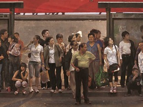 23 Shang Ding Waiting oil painting 2009 290x217 - Shang Ding Oil Painting Exhibition Opened at Chinese Academy of Oil Painting