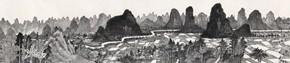 25 Cui Xiaodong, Li River's Wonderful Sceneries Figure