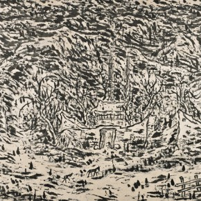 25 Cui Zhenkuan White Deer Plain 158 x 362 cm 2014 290x290 - Mountains in Meditating – Cui Zhenkuan Chinese Painting Exhibition Opening at the National Art Museum of China