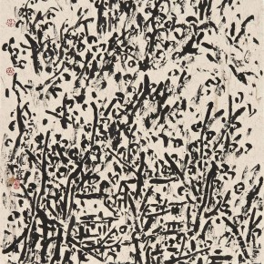 26 Cui Zhenkuan Bashan in Autumn No.2 136 x 69 cm 2009  290x290 - Mountains in Meditating – Cui Zhenkuan Chinese Painting Exhibition Opening at the National Art Museum of China
