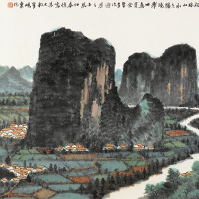 28 Cui Xiaodong The Wonderful Scenery of Li River Figure 136 x 68 cm 2012 290x290 - Cui Xiaodong