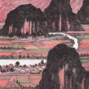 42 Xiaodong Numerous Mountains in Deep Red 290x290 - Cui Xiaodong