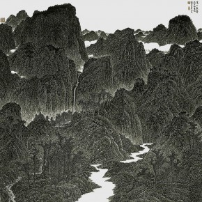 45 Cui Xiaodong The Endless Streams and Mountains 175 x 173 cm 1999 290x290 - Cui Xiaodong