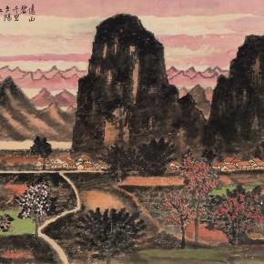 51 Cui Xiaodong The Green Distant Mountains 96 x 59 cm 2014 290x290 - Cui Xiaodong