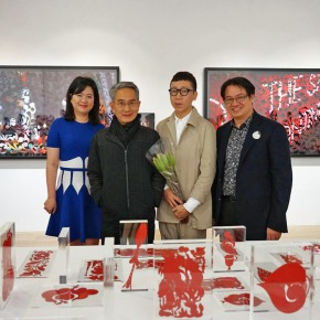 A02 Distinguished guests, from left to right The  manager of Liang Gallery  Claudia Chen,   The  Art Director of Cloud Gate Dance Theater   Lin Hwai-min, Artist Jam Wu,  The  conductor of Liang Gallery  Yu Yan