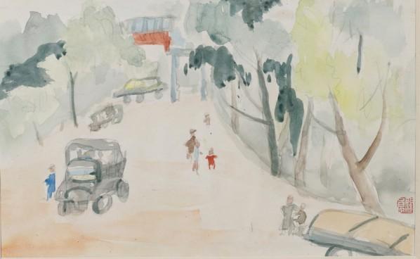 Guan Liang, Street of Kunming, 1940