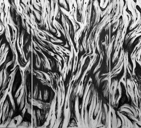 Wu Hwa Roots 2012 Acrylic on Canvas 130cmx213cm x 5 290x264 - SHENG: Wu Hwa Solo Exhibition Opening May 9 at Today Art Museum