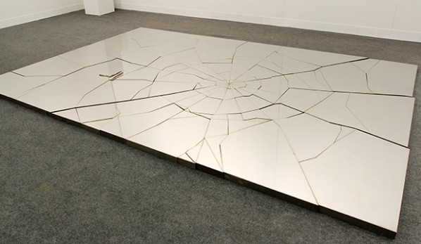 Zhao Zhao, Fragments, 2013; Steel, Edition of 3, 200x300x5cm