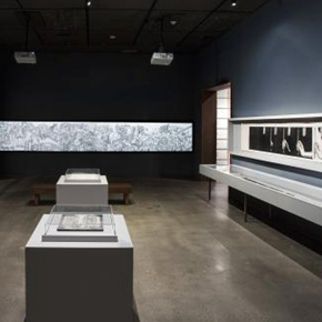 Xu Bing's first solo exhibition in Los Angeles featuring the exploration of his language remains on view till July 26