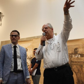 003 William Kentridge and Philip Tinari guided the visit of the exhibition 290x290 - South African artist William Kentridge's biggest exhibition in Asia opened at UCCA