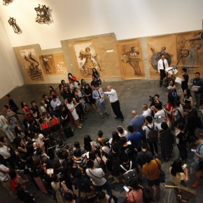 005 Press Conference 290x290 - South African artist William Kentridge's biggest exhibition in Asia opened at UCCA