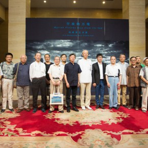 01 The Group Photo of Honored Guests at the Opening Ceremony 290x290 - Liu Shangying's Art Exhibition Unveiled at the National Art Museum of China