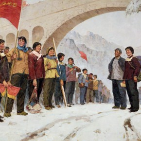 02 Ma Changli Move to Fight in Tai hang Mountains oil on linen 150 x 250 cm 1977 290x290 - Ma Changli