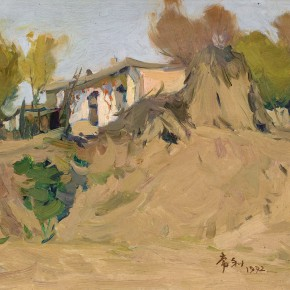 04 Ma Changli The Countryside House Where the Artist Once Lived oil on cardboard 24 x 26 cm 1972 290x290 - Ma Changli