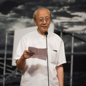 05 Prof. Zhan Jianjun spoke at the opening 290x290 - Liu Shangying's Art Exhibition Unveiled at the National Art Museum of China