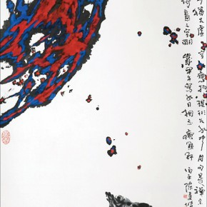 05 Tan Kian Por The Poetic Vacant scroll painting 136 x 68 cm 2014 290x290 - Intuitive Insight – Singaporean Artist Tan Kian Por Exhibition of Chinese Painting and Calligraphy, Seal Carving debuted in Beijing
