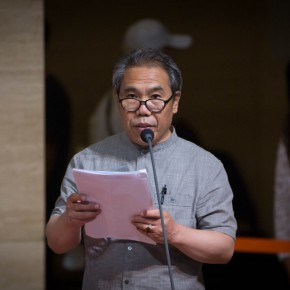 06 Prof. Wang Shaojun chaired the opening ceremony 290x290 - Liu Shangying's Art Exhibition Unveiled at the National Art Museum of China