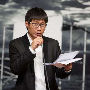 07 Artist Liu Shangying spoke at the opening 290x290 - Liu Shangying's Art Exhibition Unveiled at the National Art Museum of China