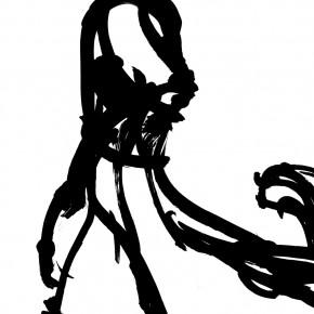 07 Qiu Zhenzhong, Status – VII (details), ink on paper, 34.5 x 32 cm x 12, 2003