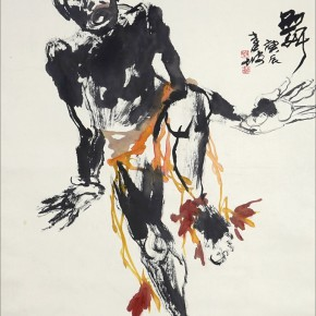 08 Tan Kian Por Dancing scroll painting 136 x 68 cm 2001 290x290 - Intuitive Insight – Singaporean Artist Tan Kian Por Exhibition of Chinese Painting and Calligraphy, Seal Carving debuted in Beijing