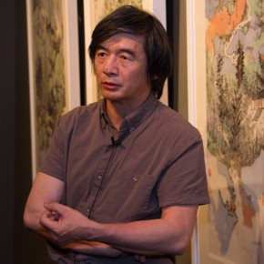 09 Artist Lin Rongsheng was interviewed by CAFA ART INFO 290x290 - South & North – the Exhibition of Landscape Paintings by Lin Rongsheng, Fang Xiang, Qiu Ting Unveiled
