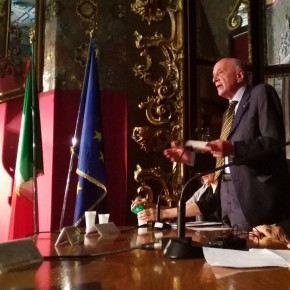 "09 Italian art historian and art theorist Renato Mammucari made a speech 290x290 - Grand Tour Spirit is Going on: ""Chinese artists' perspective of Italy"" opened in Rome"