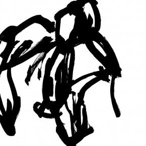 09 Qiu Zhenzhong, Status – VII (details), ink on paper, 34.5 x 32 cm x 12, 2003