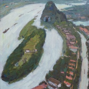 10 Ma Changli A View of the Lijiang River oil on linen 60.6 x 50 cm 1980 290x290 - Ma Changli