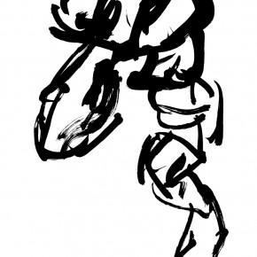 10 Qiu Zhenzhong, Status – VII (details), ink on paper, 34.5 x 32 cm x 12, 2003
