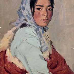 100 Ma Changli A Mongolian Girl oil on cardboard 53.5 x 39.5 cm 1978 290x290 - Ma Changli