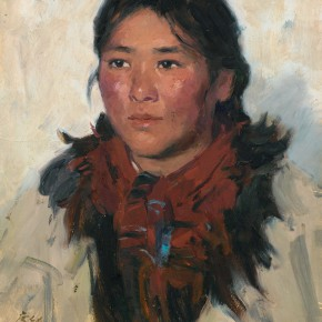 101 Ma Changli A Woman from Mountains oil on cardboard 40 x 31.8 cm 1976  290x290 - Ma Changli