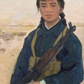 102 Ma Changli A Female Militia oil on cardboard 55.5 x 40 cm 1977 290x290 - Ma Changli
