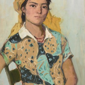 104 Ma Changli The Uighur Girl with Bright colored Clothes oil on cardboard 55 x 39.5 cm 1979 290x290 - Ma Changli