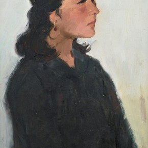 115 Ma Changli The Woman Dressed in Black oil on cardboard 53 x 39 cm 1979  290x290 - Ma Changli