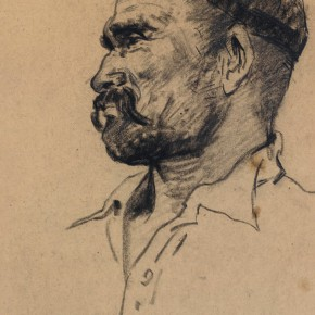 118 Ma Changli The Middle Aged Man from Ili charcoal pencil 26 x 18.5 cm 1961  290x290 - Ma Changli