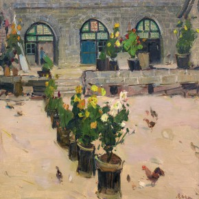 13 Ma Changli The Courtyard of Cave Dwelling oil on linen 32 x 44 cm 1980 290x290 - Ma Changli