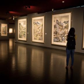 19 Installation view of the exhibition 290x290 - South & North – the Exhibition of Landscape Paintings by Lin Rongsheng, Fang Xiang, Qiu Ting Unveiled