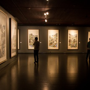 23 Installation view of the exhibition 290x290 - South & North – the Exhibition of Landscape Paintings by Lin Rongsheng, Fang Xiang, Qiu Ting Unveiled