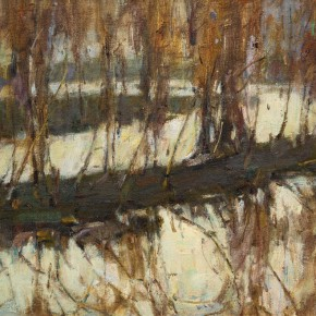 42 Ma Changli The Lake with Shadow of the Grove in Autumn 41 x 31.8 cm oil on linen 1994 290x290 - Ma Changli