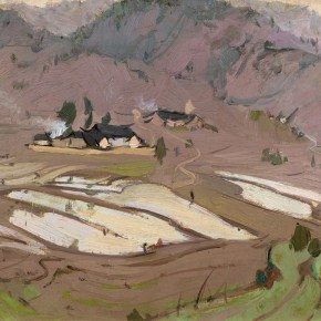 57 Ma Changli Red Land in the Hometown oil on cardboard 27 x 35 cm 1965 290x290 - Ma Changli