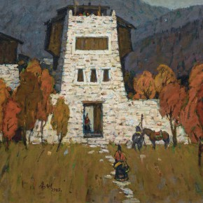 83 Ma Changli The Tibetan Farmhouse oil on linen 65.2 x 80.3 cm 1989 290x290 - Ma Changli